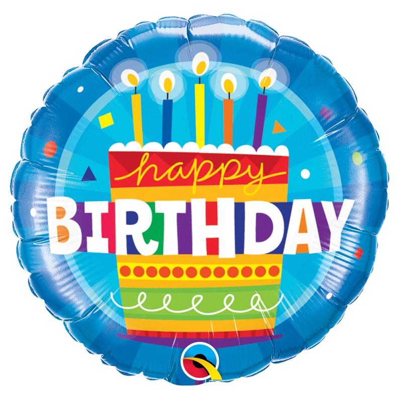Balão • Happy Birthday • Bolo • Foil • Qualatex