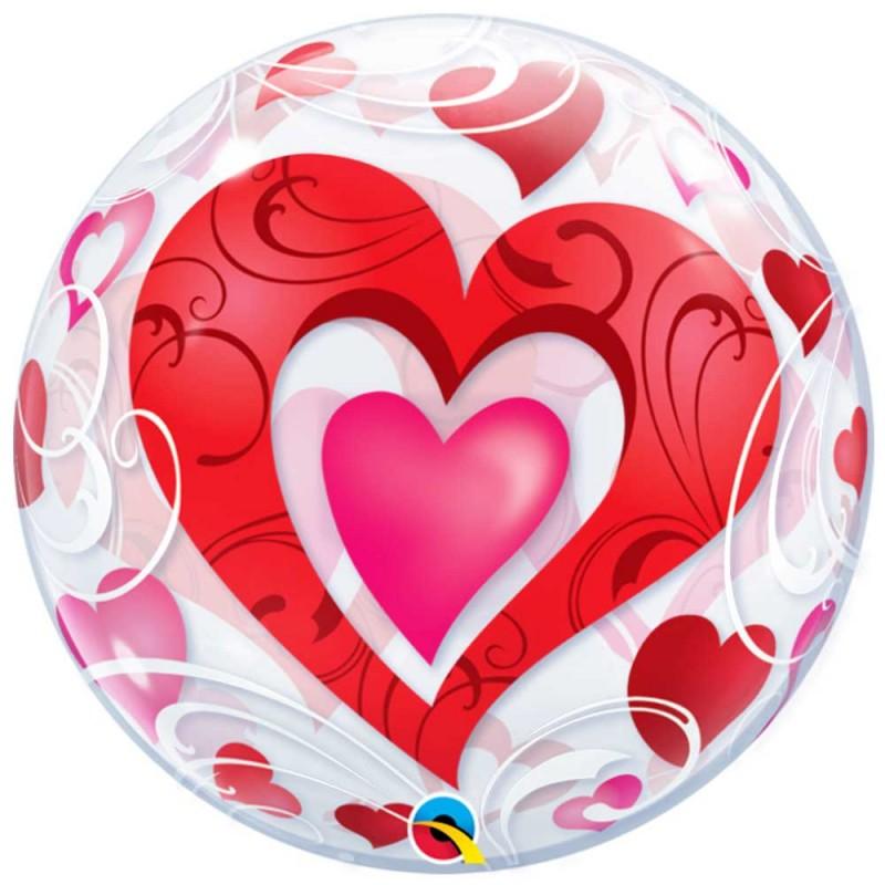 Balão Corações • Bubbles • Qualatex