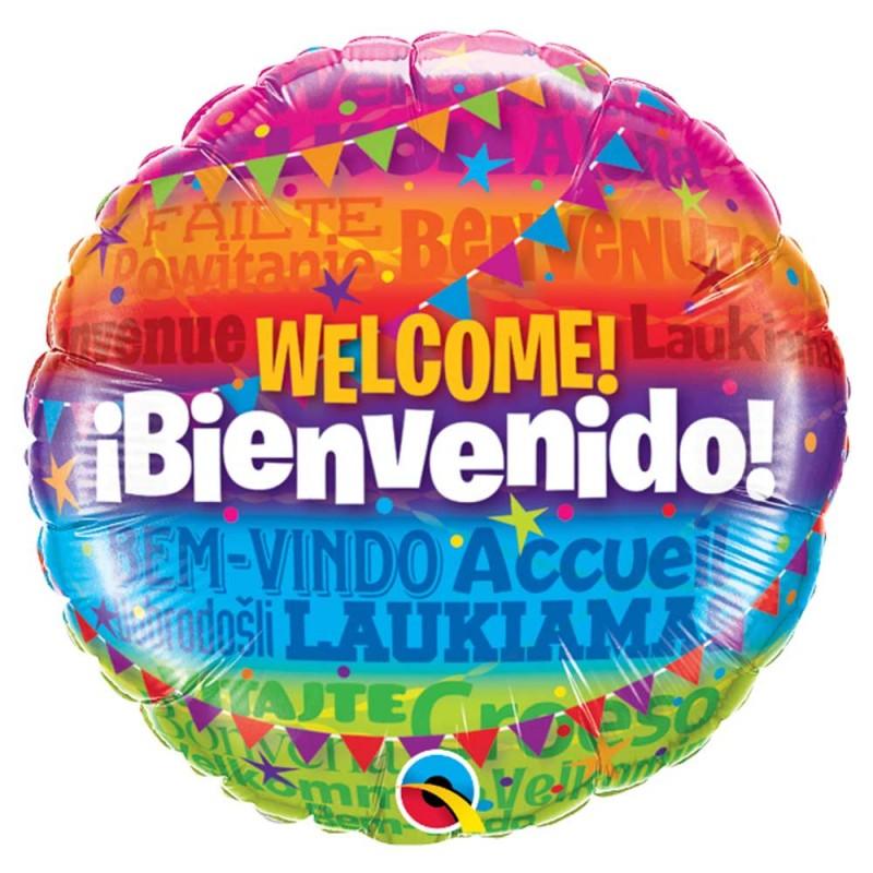 Balão Bienvenido • Foil • Qualatex