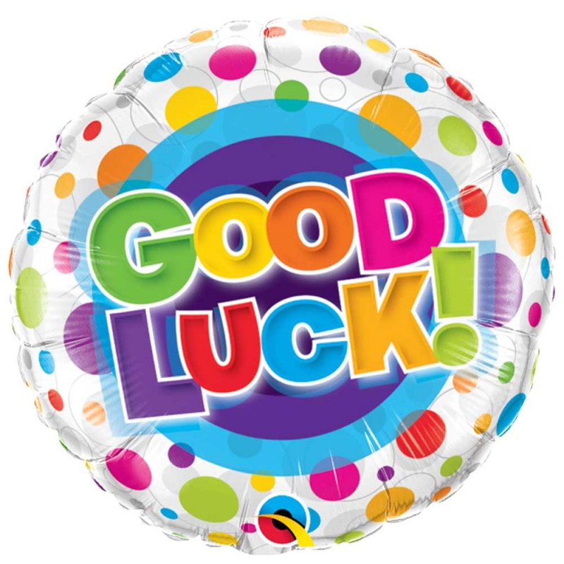 Balão Good Luck • Poá • Foil • Qualatex