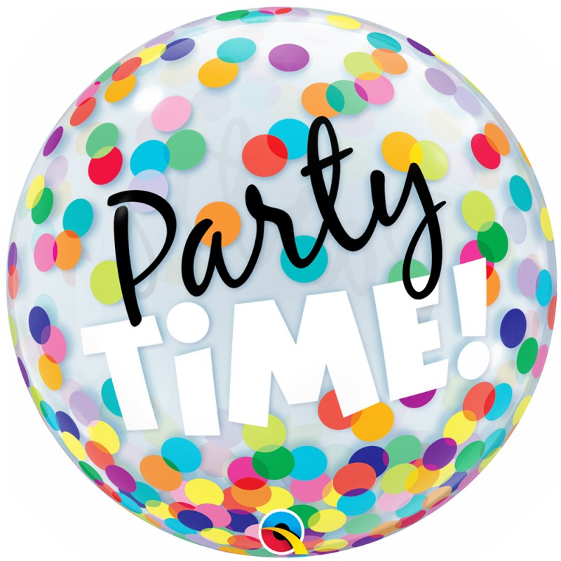 Balão Party Time • Bubble • Qualatex