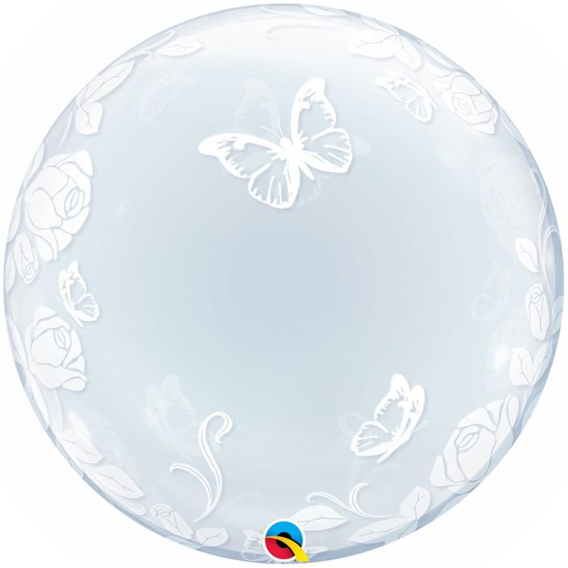 Balão Deco Borboletas e Rosas • Bubble • Qualatex