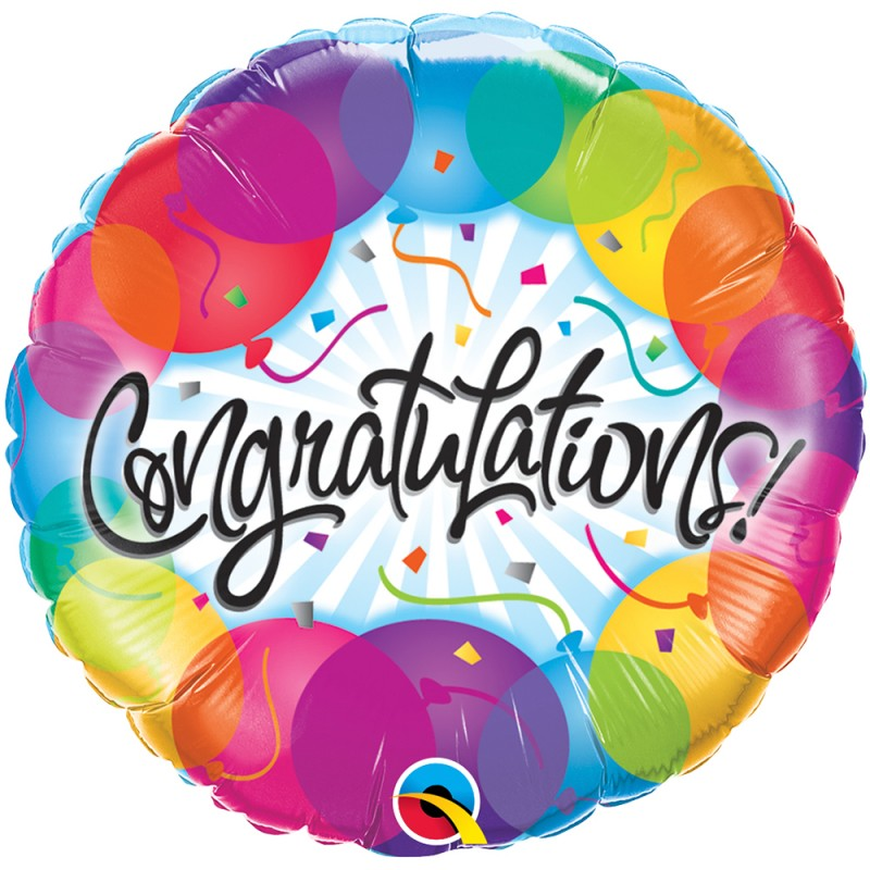 Balão Congratulations • Foil • Qualatex