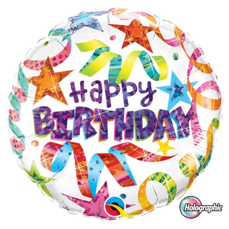 Balão Happy Birthday • Foil • Qualatex