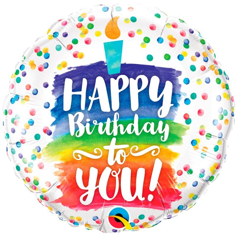 Balão Happy Birthday to You • Foil • Qualatex