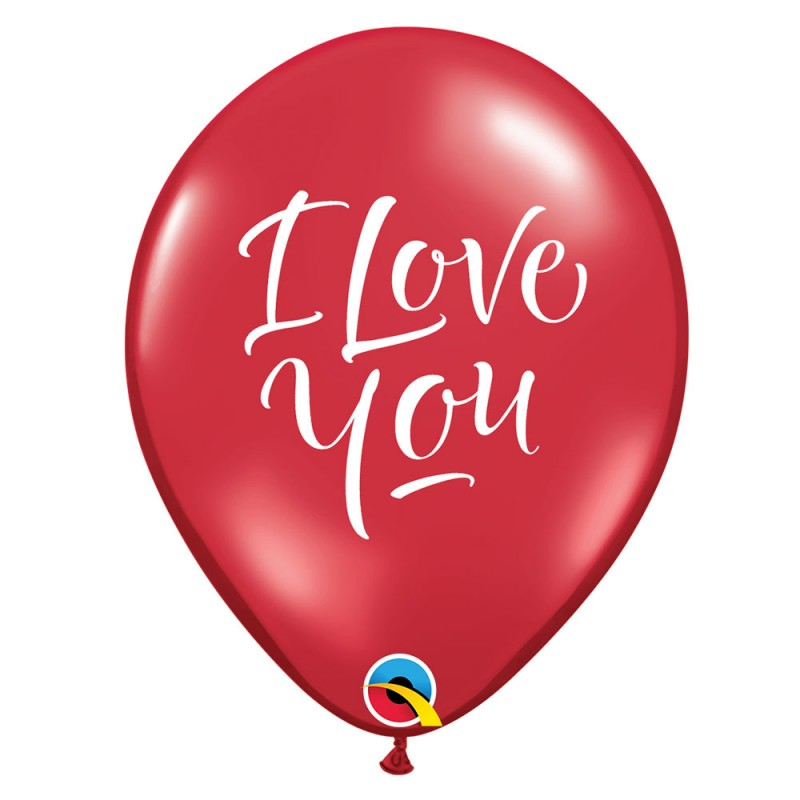 Balão I Love You • Nº11 • 50un • Qualatex