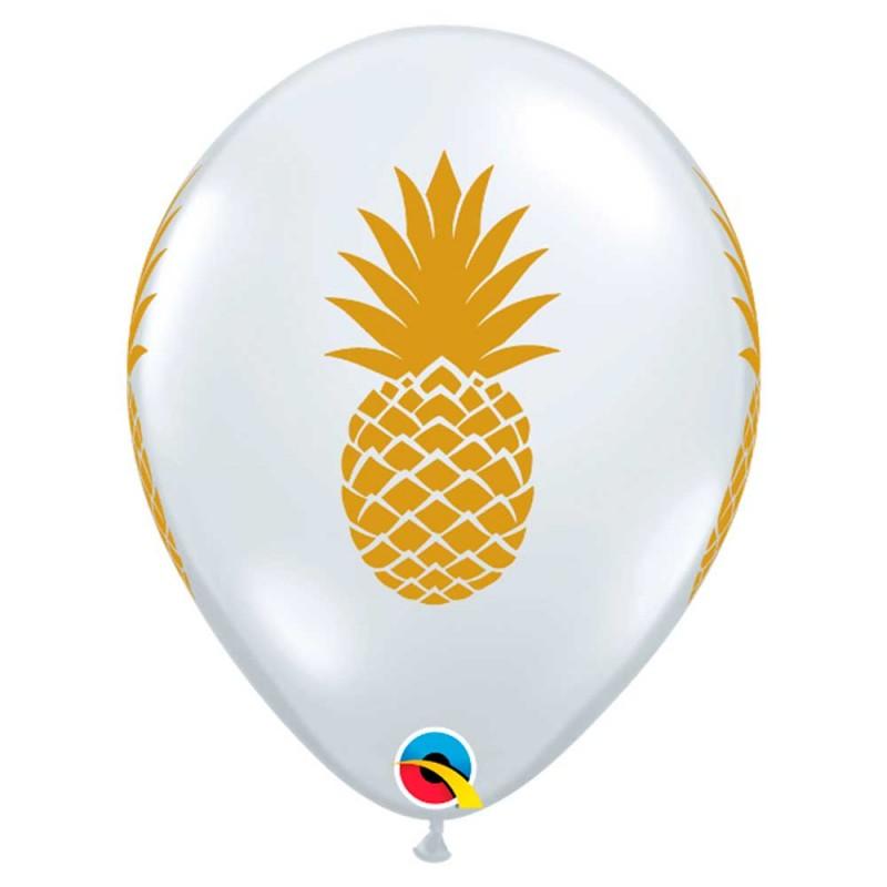 Balão Transparente Abacaxi • Nº11 • 50 un • Qualatex