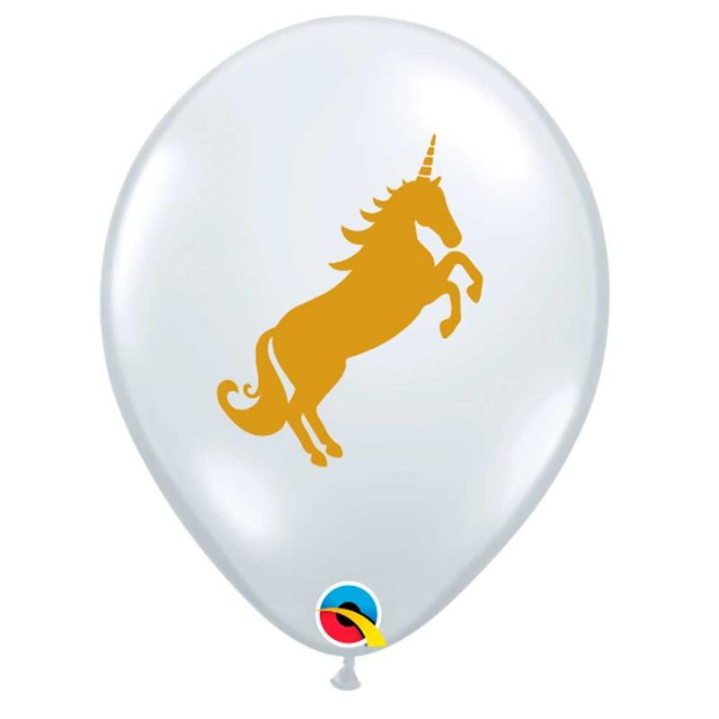 Balão Transparente Unicórnio • Nº11 • 50 un • Qualatex