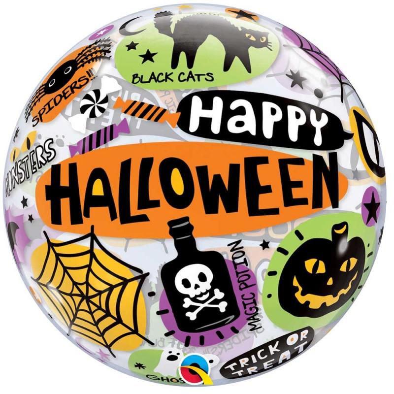 Balão Happy Halloween  • Bubble • Qualatex