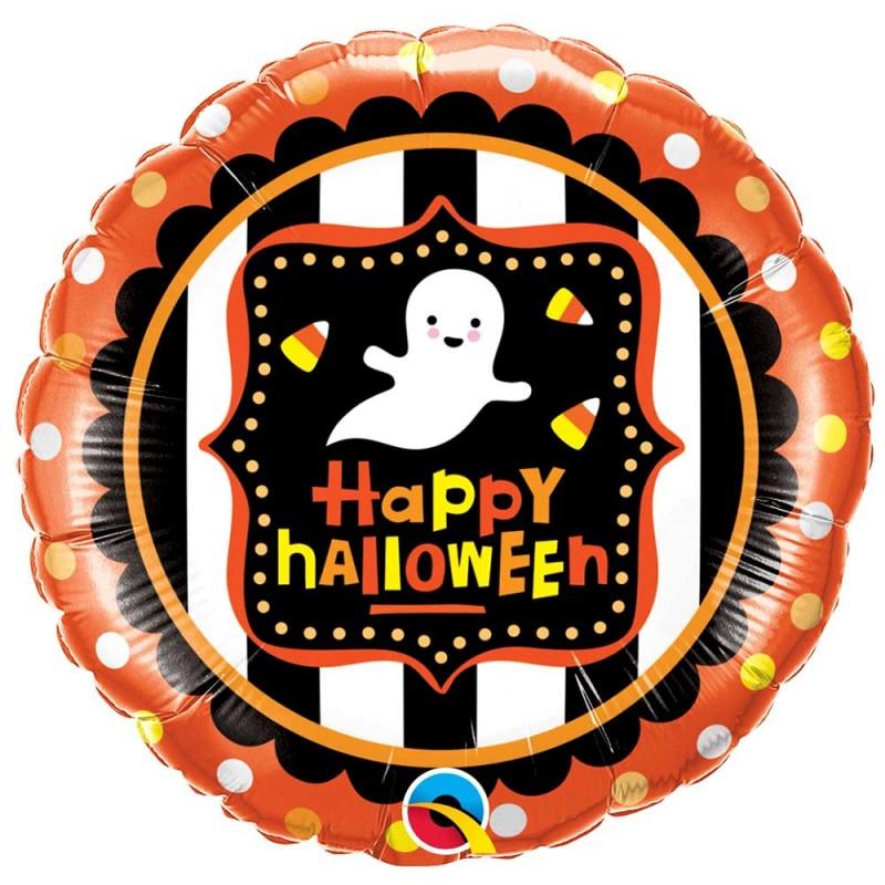 Balão Happy Halloween Laranja • Foil • Qualatex
