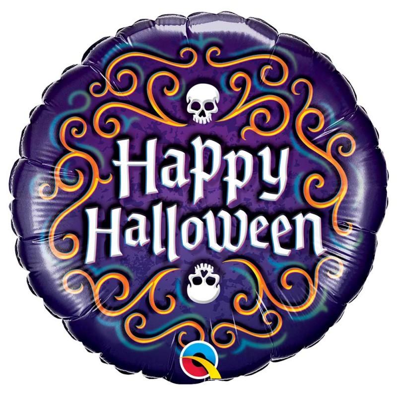 Balão Happy Halloween • Foil • Qualatex