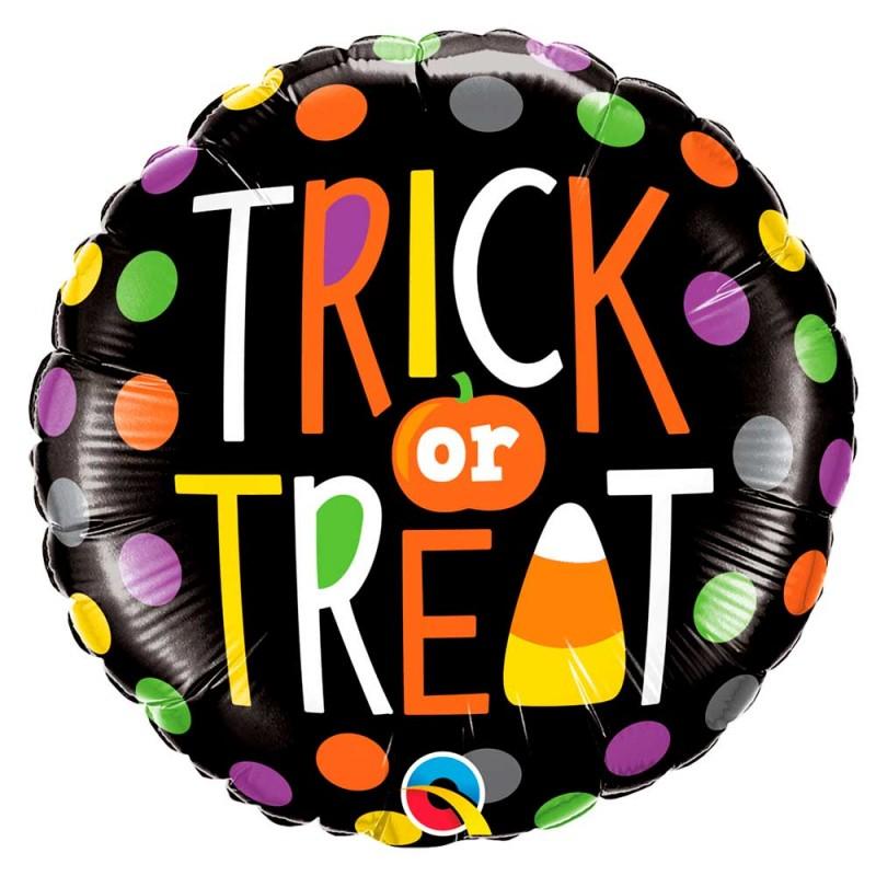 Balão Trick or Treat • Foil • Qualatex