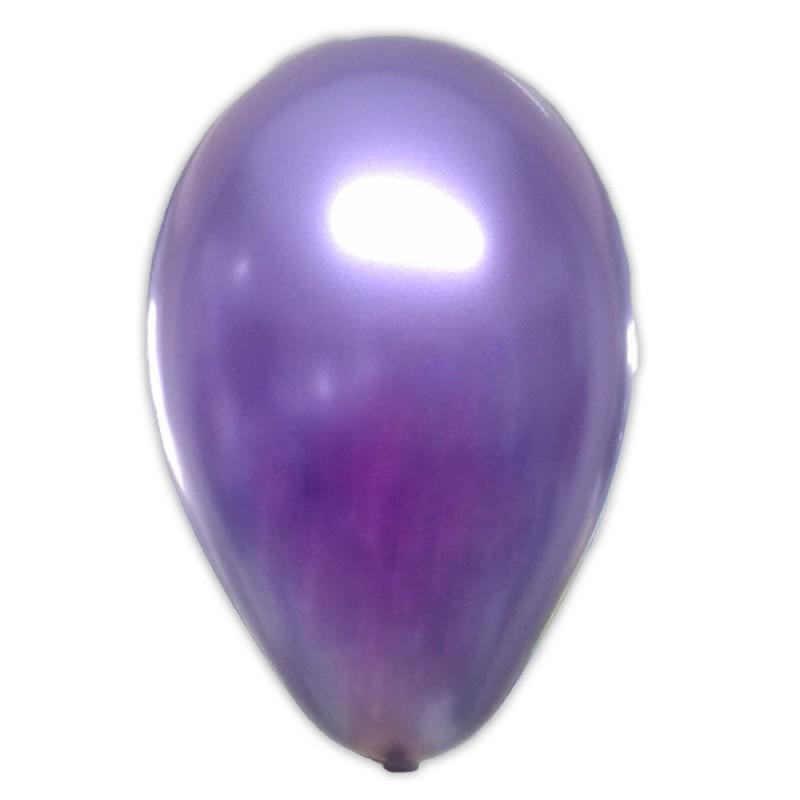 Balão Roxo Metálico Nº9 • 25un.• São Roque
