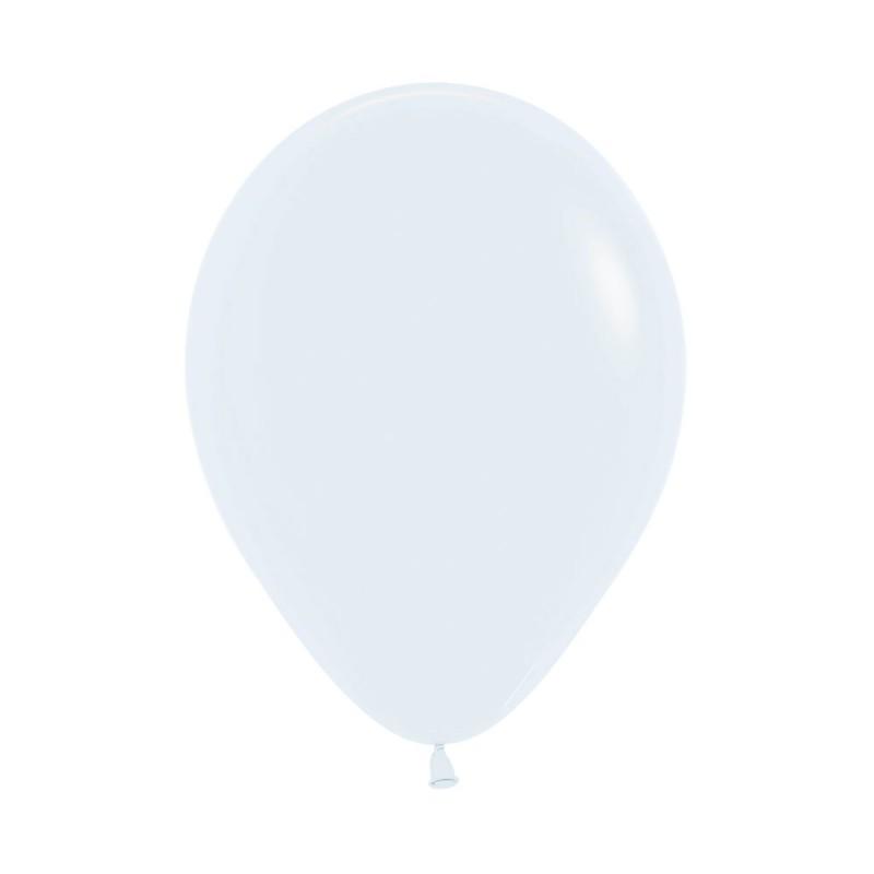 Balão Látex Nº12 • 50un • Fashion Branco • Sempertex