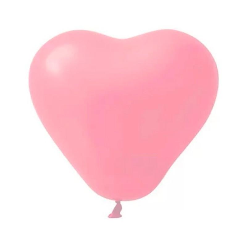 Balão Látex Coração Nº12• 12un.• Fashion Rosa • Sempertex