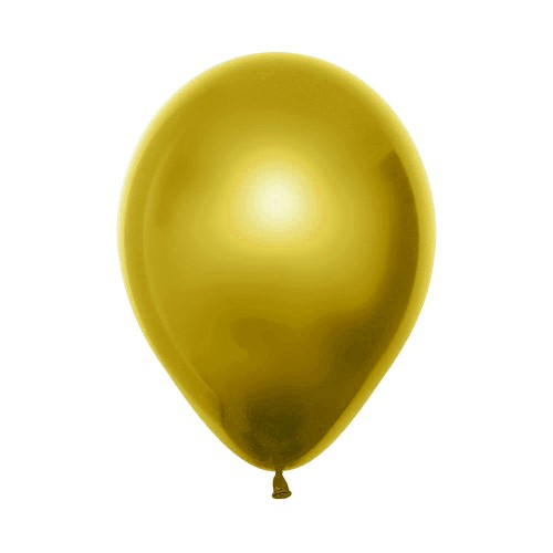 Balão Látex Nº12• 50un.• Metal Amarelo • Sempertex