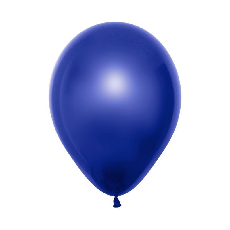 Balão Látex Nº12• 50un.• Metal Azul • Sempertex