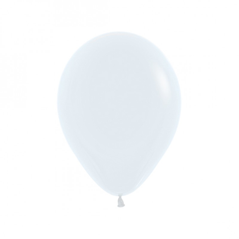 Balão Látex Nº12• 50un.• Branco Satin • Sempertex