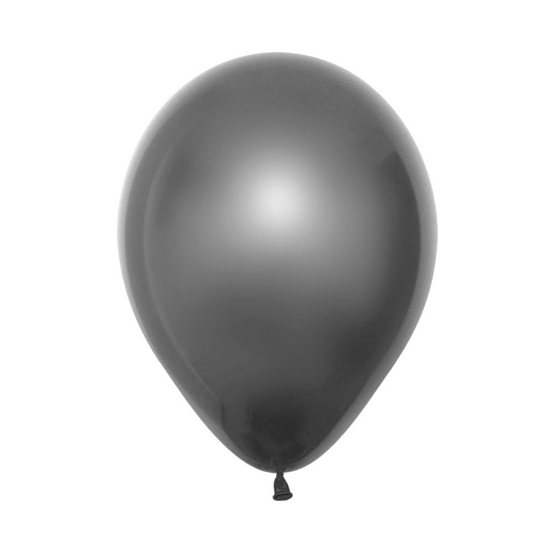 Balão Látex Nº12• 50un.• Satin Prata • Sempertex