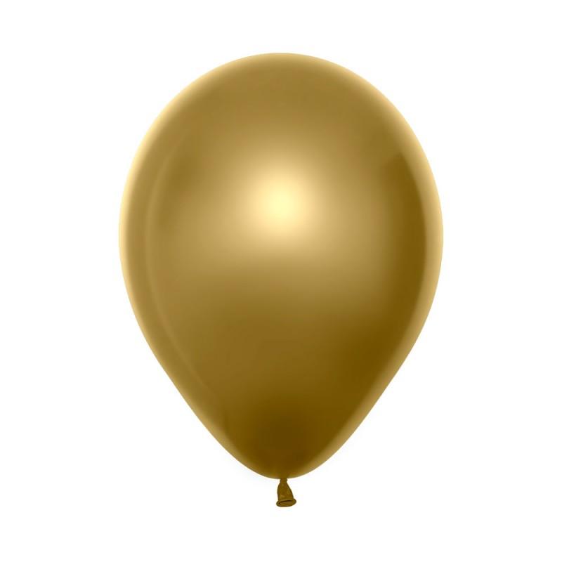 Balão Látex Nº12• 50un.• Metal Dourado • Sempertex