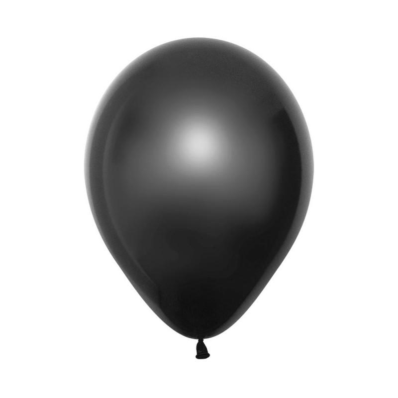 Balão Látex Nº12• 50un.• Metal Preto • Sempertex