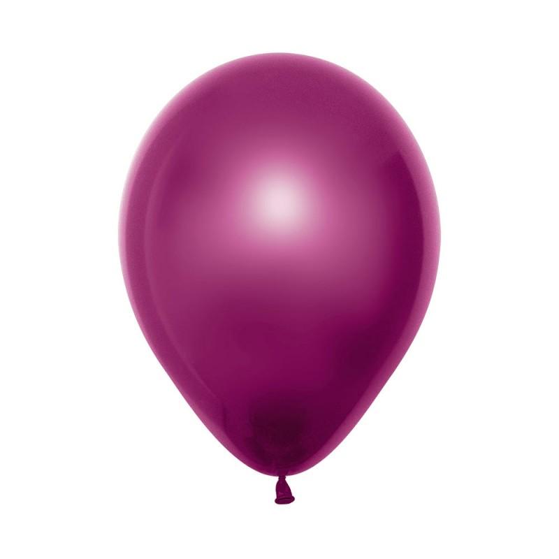 Balão Látex Nº12• 50un.• Metal Fucsia • Sempertex