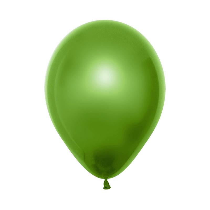 Balão Látex Nº5 • 50un.• Metal Verde Lima • Sempertex