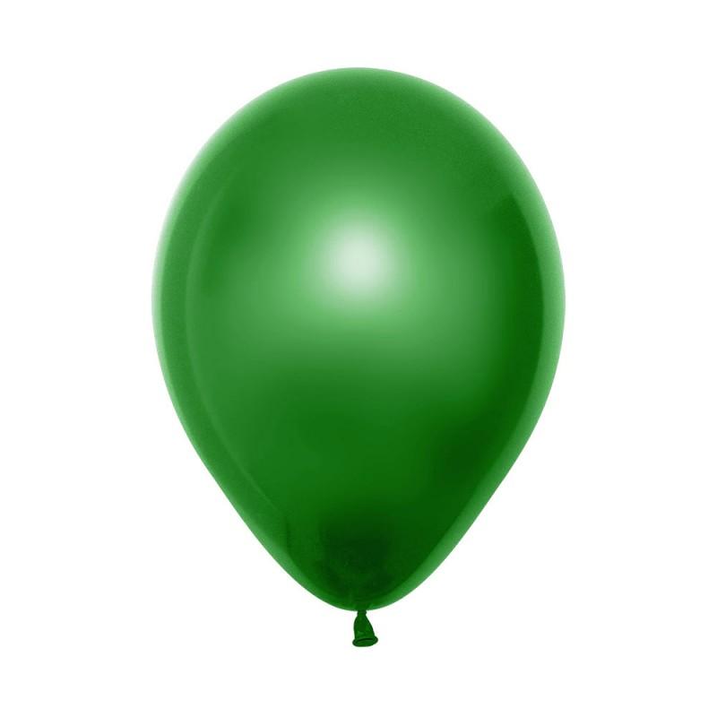 Balão Látex Nº12• 50un.• Metal Verde • Sempertex
