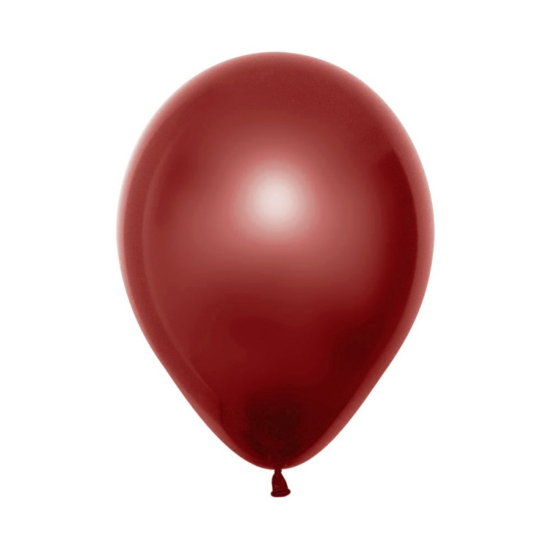 Balão Látex Nº12• 50un.• Metal Vermelho • Sempertex