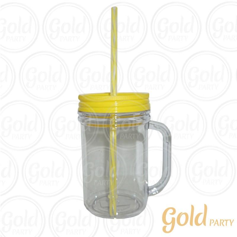 Caneca Acrílica • 300ml • Cristal Amarela • Gold Party