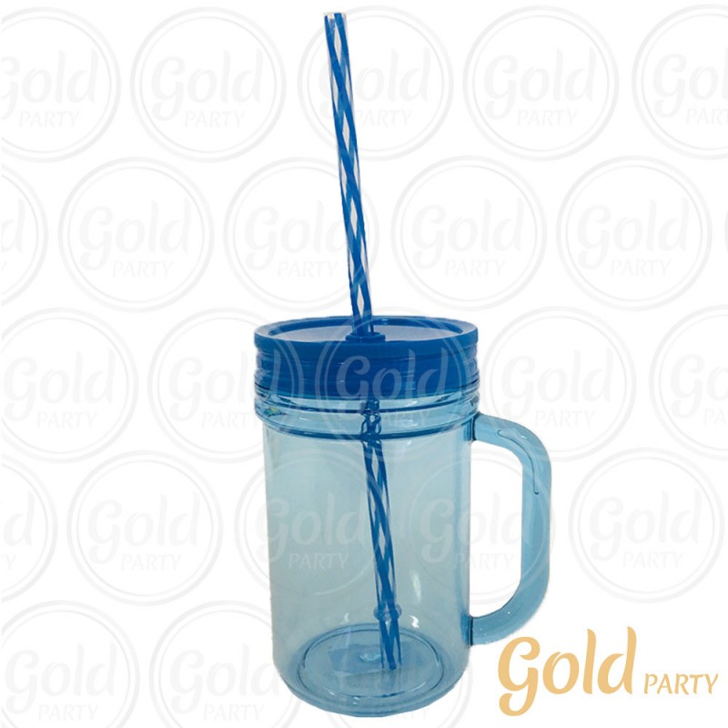 Caneca Acrílica • 300ml • Azul • Gold Party
