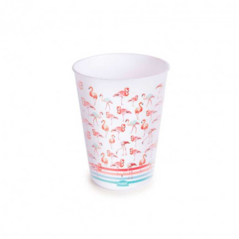 Copo Plástico • Flamingo • 320ml • Plasútil