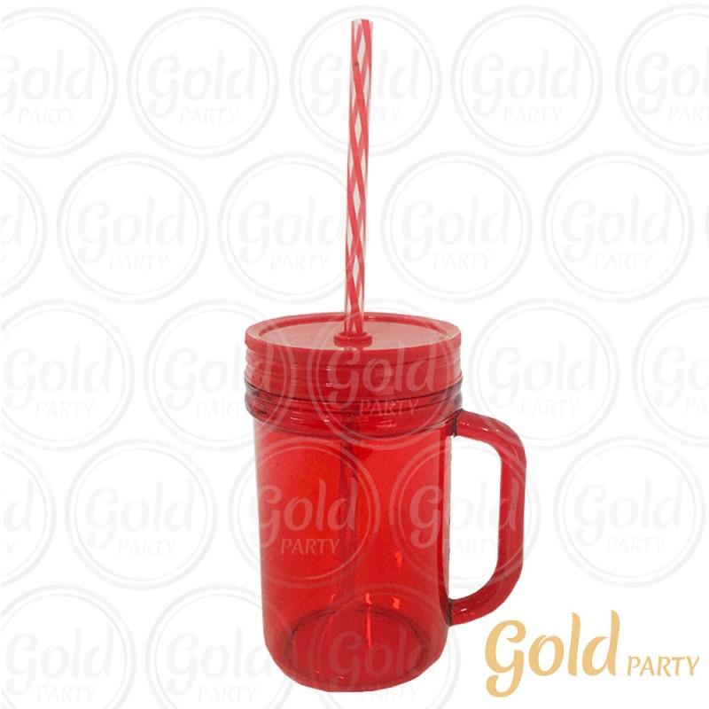 Caneca Acrílico • 300ml • Vermelha • Gold Party