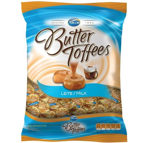 Bala •Butter Toffee • Leite • 600gArcor