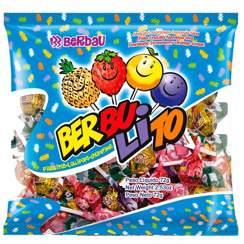 Pirulito •Berbulito • Frutas • 600g •Berbau