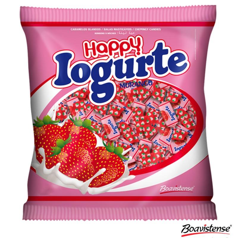 Bala Happy • Iogurte • Morango • 600g