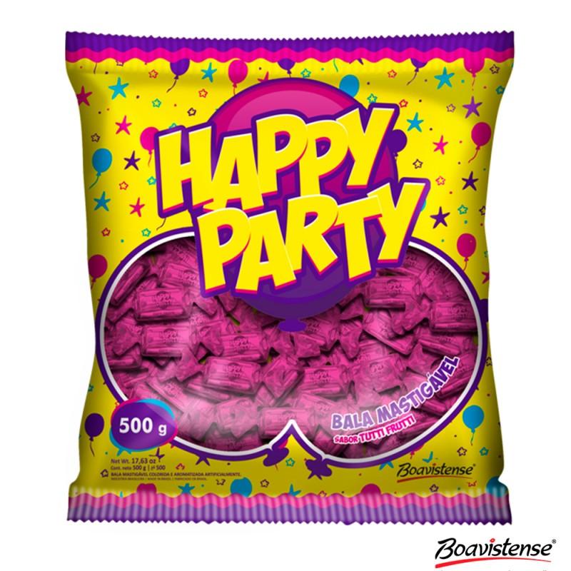 Bala • Happy Party • Rosa 500g