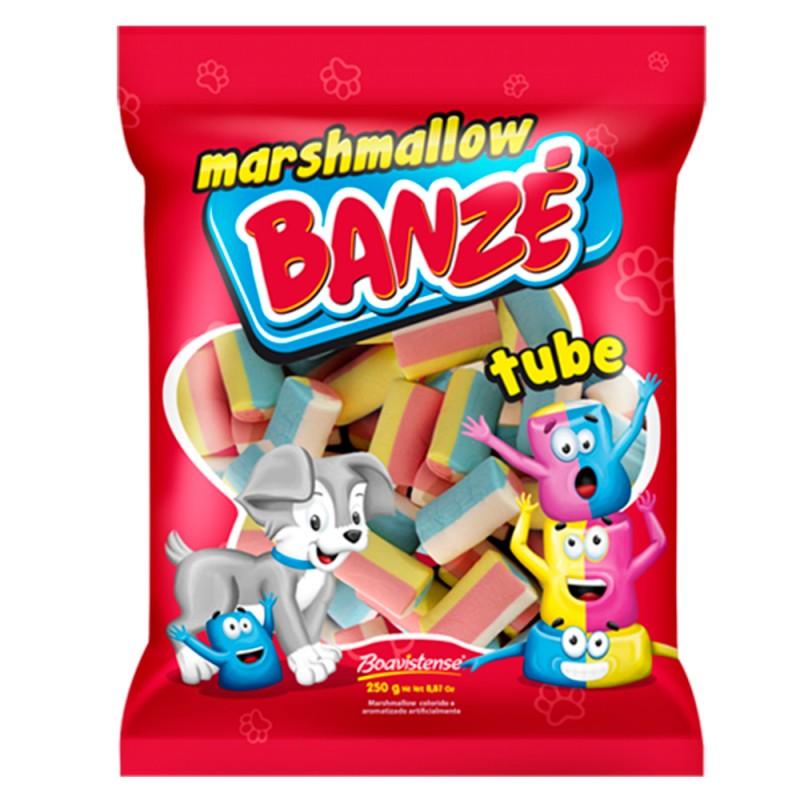 Marshmallow Tube Colorido  • 250g Banzé • Boavistense