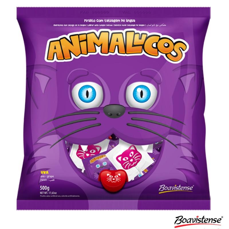 Pirulito • Animalucos • Uva • 500g • BOAVISTENSE
