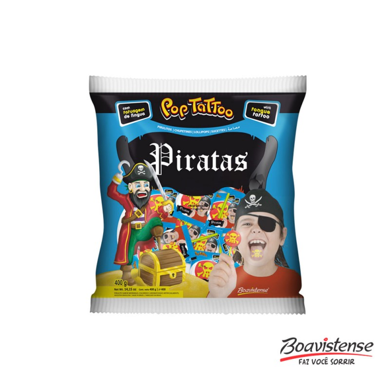 Pirulito Pirata • Pinta Língua • 400g • Boavistense