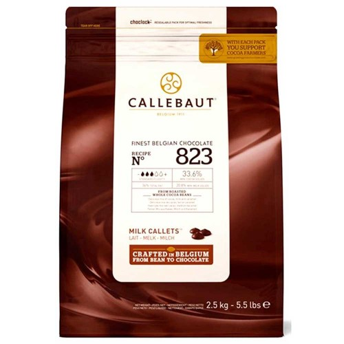 Callebaut • Ao Leite • Nº 823 • 33.6%|2kg