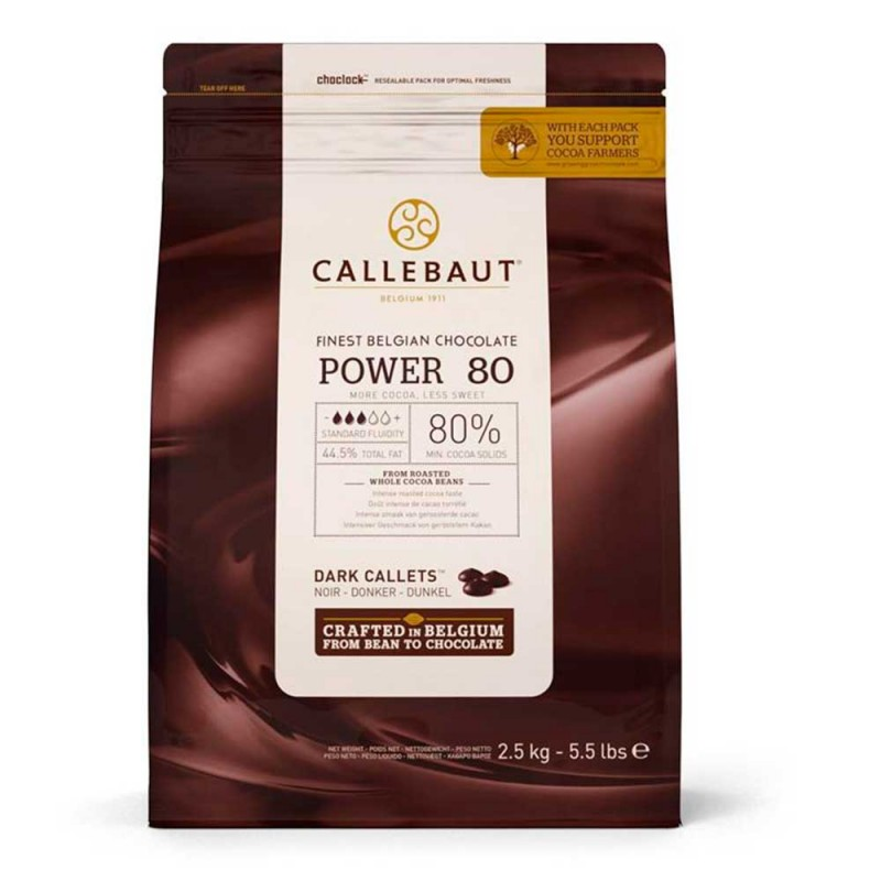 Callebaut • Chocolate Power 80 • Amargo  • 2,5kg