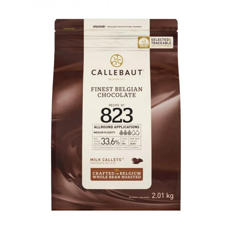 Chocolate Belga • Callets • Ao Leite • Nº 823 • 33.6%|2.01kg| Callebault