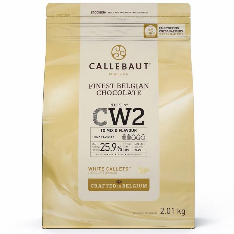 Chocolate Belga • Callets • Branco • CW2 • 25.9%|2.01kg | Callebault