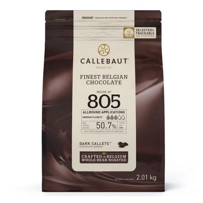 Chocolate Belga • Callets • Amargo • nº805 • 50.7% | 2,01kg | Callebault