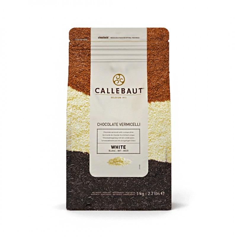 Callebaut • Granulado Vermicelli • Branco • 1kg | Callebault