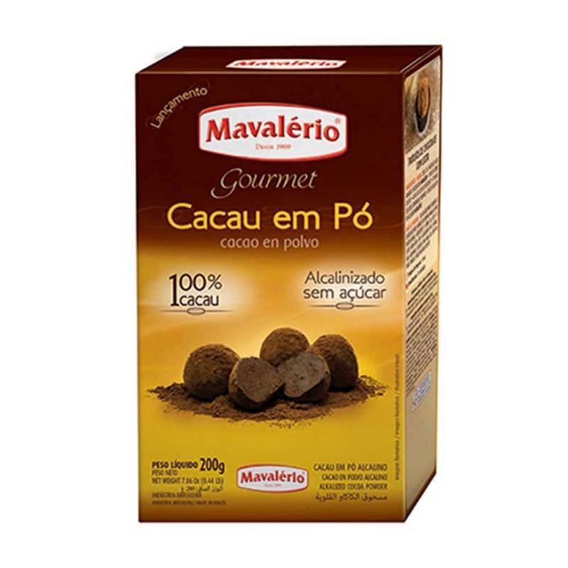 Chocolate em Pó Solúvel • 100% Cacau • 200g • Mavalério