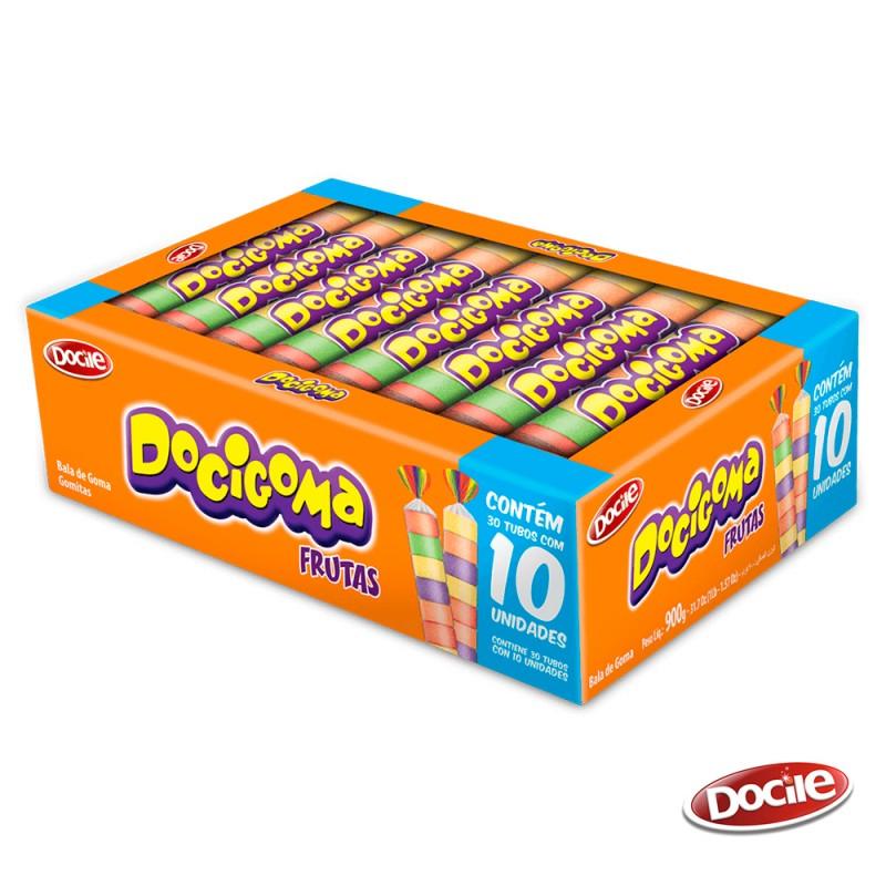Docigoma Frutas Sortidas • Caixa 30x10. • DOCILE