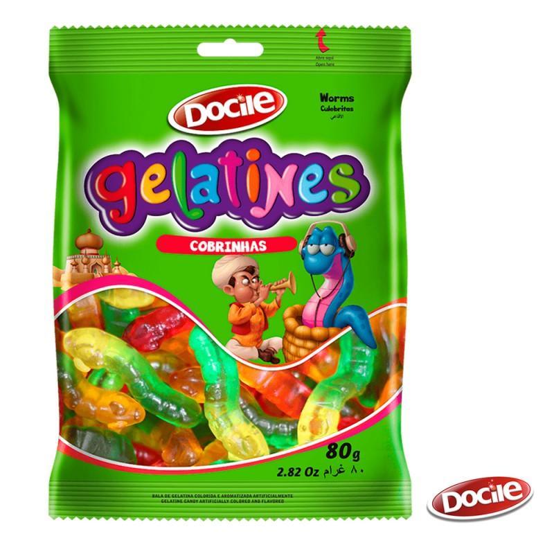 Gelatines Cobrinhas 80g • Docile