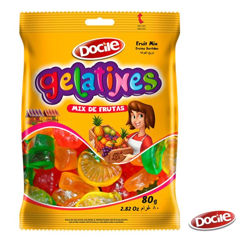 Gelatines Mix de Frutas 80g • Docile